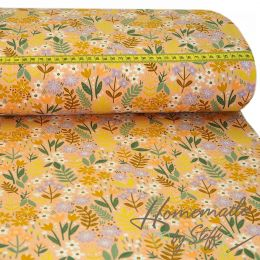 Baumwolle Brushed Flowers auf Apricot