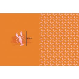 Jersey Panel Hummer Lachs 95 cm