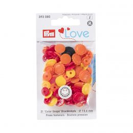 Prym Love Color Snaps Blume Gelb/Rot/Orange