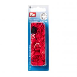 Prym Love Color Snaps Blume Rot