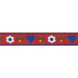 Webband Hearts & Flowers Rot