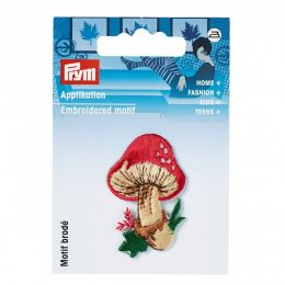 "Prym Applikation ""Fliegenpilz"" Rot/Beige"