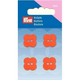 Prym Perlmutt-Knopf Blume 2-Loch 15 mm Orange