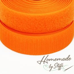 Klettband Uni 2,5 cm Orange