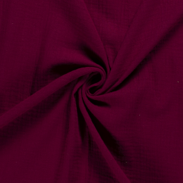 Musselin Double Gauze Uni Bordeaux