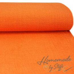 Baumwolle Uni Slub Washed Orange