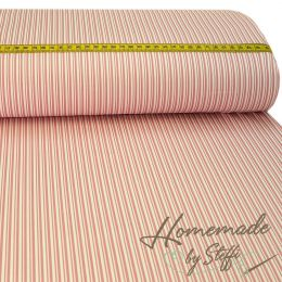 Baumwolle Darling Double Stripes Altrosa