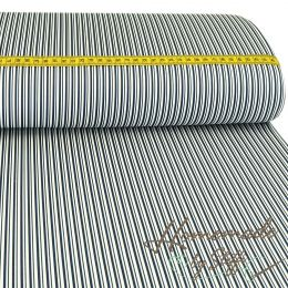 Baumwolle Darling Double Stripes Dunkelblau