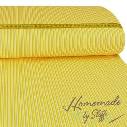 Baumwolle Darling Double Stripes Gelb