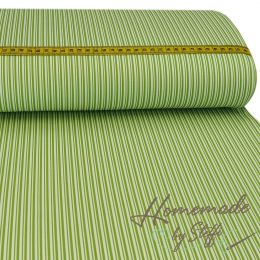 Baumwolle Darling Double Stripes Kiwi