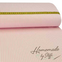 Baumwolle Darling Double Stripes Rosa