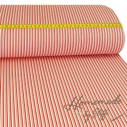 Baumwolle Darling Double Stripes Rot