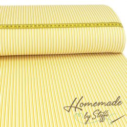 Baumwolle Darling Double Stripes Senfgelb