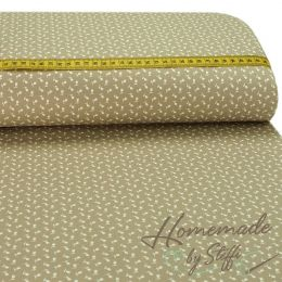 Baumwolle Small Flowers Beige