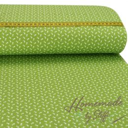 Baumwolle Small Flowers Lime