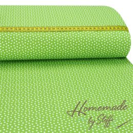 Baumwolle Small Hearts Lime