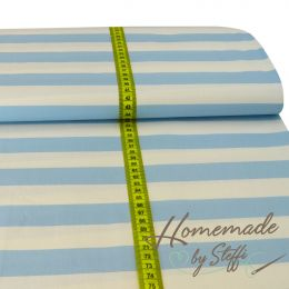 Baumwolle XL Stripes Hellblau