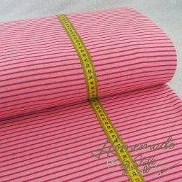 Jacquard-Jersey Hamburger Liebe Tender Kiss Double Stripe Lampone/Rosa