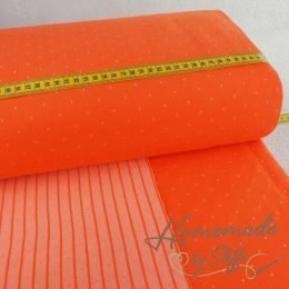 Jacquard-Jersey Hamburger Liebe THIS SUMMER Double Dots Orange