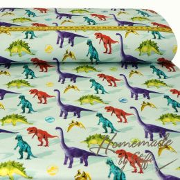 Jersey Jurassic World Colourful Dinos Hellmint LIZENZ