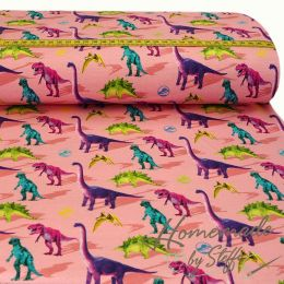 Jersey Jurassic World Colourful Dinos Altrosa LIZENZ