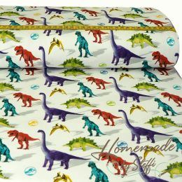 Jersey Jurassic World Colourful Dinos Weiß LIZENZ
