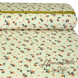 Jersey Modal Little Flowergrasses Creme Tencel™