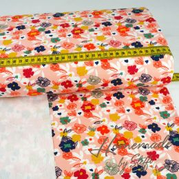 Sommersweat Modal Flowers Apricot SALE