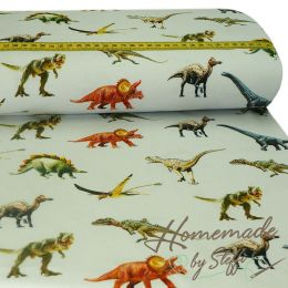 Jersey Jurassic World Real Dinos Hellgrau Digital Lizenz