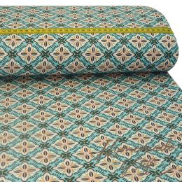 Baumwolle Retro Abstract Mint