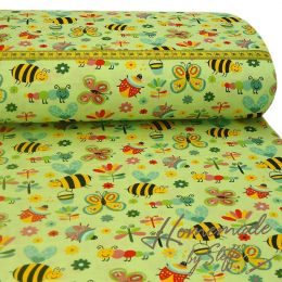 Baumwolle Bees & Friends Lime