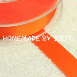 Satinband Uni Orange