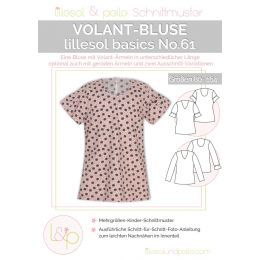 Lillesol & Pelle Papierschnittmuster Basic Volant-Bluse Gr. 80 - 164